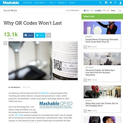 Why QR Codes Won't Last