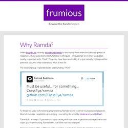 Why Ramda?