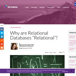 "Why are Relational Databases ""Relational""?"