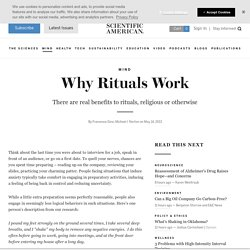 Why Rituals Work
