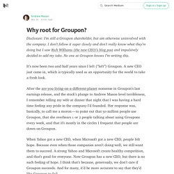 Why root for Groupon?