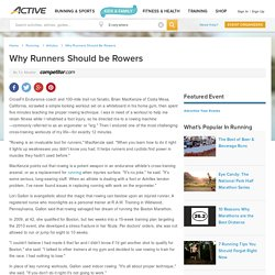 Why Runners Should be Rowers