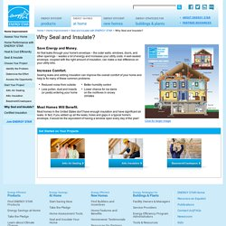 Air Seal and Insulate with ENERGY STAR