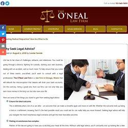 Why Seek Legal Advice?