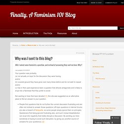 Why was I sent to this blog? « Finally, A Feminism 101 Blog