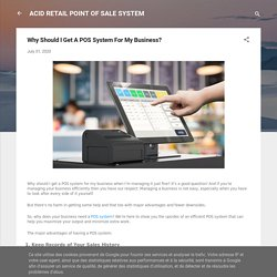 Why Should I Get A POS System For My Business?