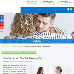 Why You Should Give Talk Therapy a Try
