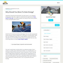 Why Should You Move To Solar Energy?