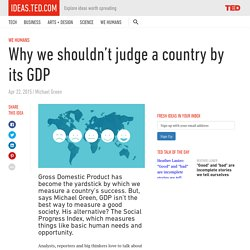 Why we shouldn't judge a country by its GDP