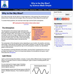 Blue Sky - Why is the Sky Blue?