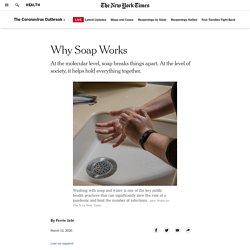 Pourquoi le savon fonctionne