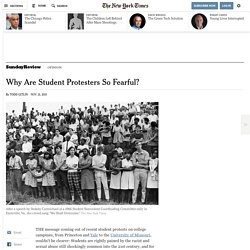 Why Are Student Protesters So Fearful?