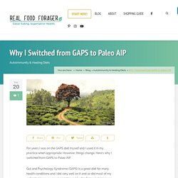 Why I Switched from GAPS to Paleo AIP