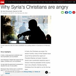 Why Syria's Christians are angry