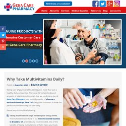 Why Take Multivitamins Daily?