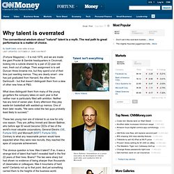 Why talent is overrated - Oct. 21, 2008