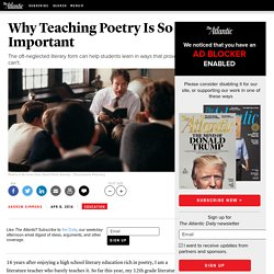Why Teaching Poetry Is So Important