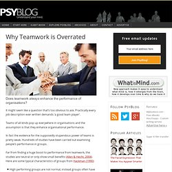 Why Teamwork is Overrated