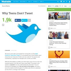 Why Teens Don't Tweet
