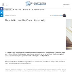 Why there is no Lean Manifesto