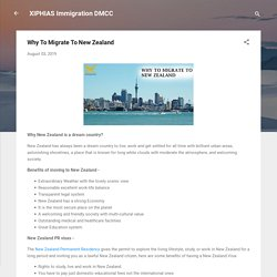 Why To Migrate To New Zealand