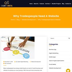 Why Tradespeople Need A Website