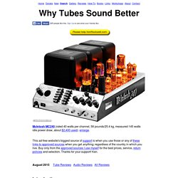 Why Tubes Sound Better