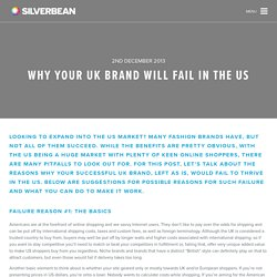 Why your UK brand will fail in the US