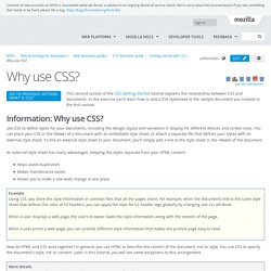Why use CSS? - Web developer guides