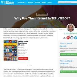 Why Use The Internet In TEFL/TESOL?