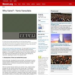 Why Valve? - Yanis Varoufakis