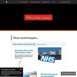 Why Vote Leave - Vote Leave