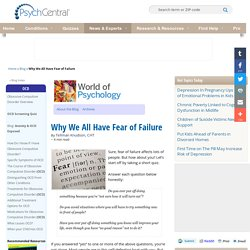 Why We All Have Fear of Failure
