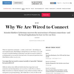 Why We Are Wired to Connect