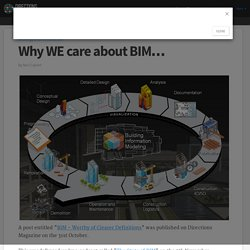 Why WE care about BIM…
