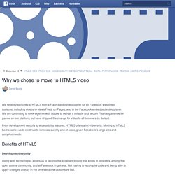 Why we chose to move to HTML5 video
