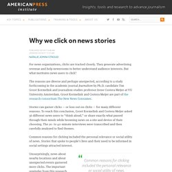 Why we click on news stories