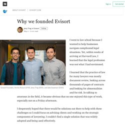 Why we founded Evisort - Evisort - Medium