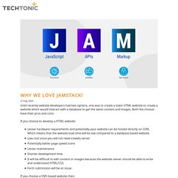 Why We Love Jamstack!