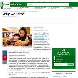 Why We Selfie