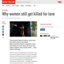 Why women still get killed for love