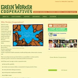 Why Worker Cooperatives? - Green Worker Cooperatives