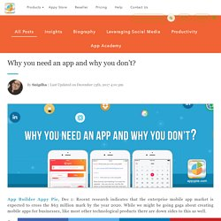 Why you need an app and why you don't?