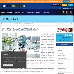 WHY YOU NEED A CUSTOM WEB DESIGN