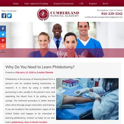 Why Do You Need to Learn Phlebotomy?