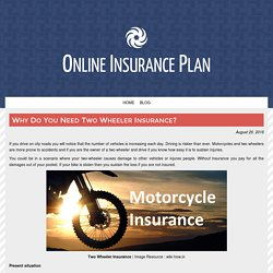 Why Do You Need Two Wheeler Insurance?