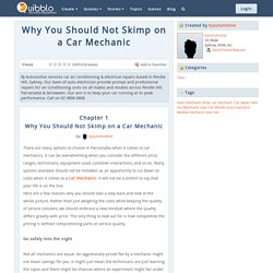 Why You Should Not Skimp on a Car Mechanic