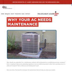 Signs That Your Air Conditioner Needs Maintenance