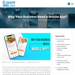Why Your Business Need a Mobile App?