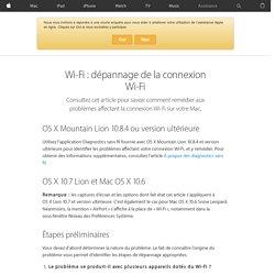 Wi-Fi: dépannage de la connexion Wi-Fi